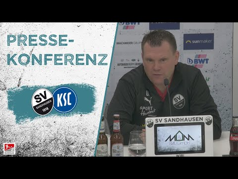 Pressekonferenz | nach dem Spiel | SV Sandhausen - Karlsruher SC