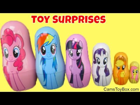 My Little Pony Nesting Dolls Micro Lite Blind Bags Opening Toy Surprises for Kids Fun Toys PPW