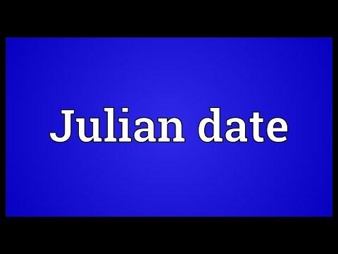 Julian Date Meaning