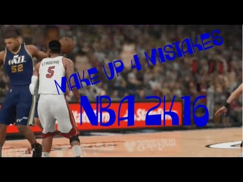 NBA 2K16 CAREER - JAZZ VS. MIA - MAKE UP 4 MISTAKES - LIVE ON TWITCH 8-10-16