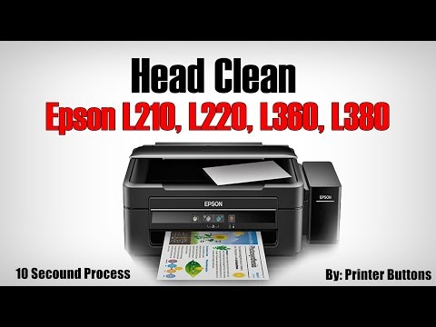How to head clean Epson L210, L220, L360, L380 (secound way)