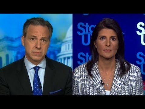 Tapper presses Nikki Haley on Syria strike