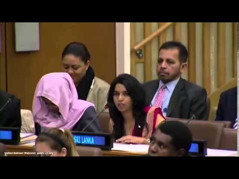 Sri Lankan Youth Delegates at the UN General Assembly 2014
