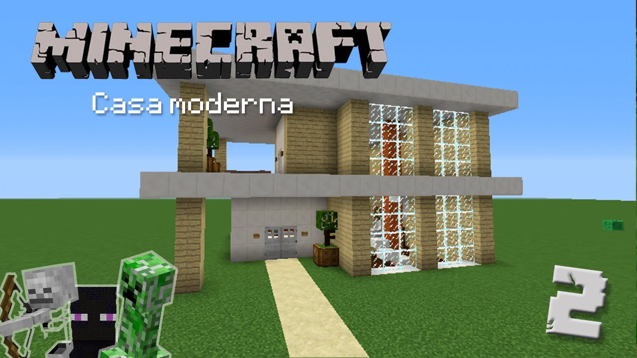 Casa moderna 2 construcci n en minecraft youtube for Casa moderna total white