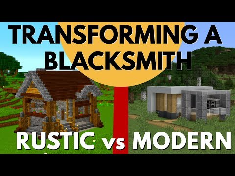 How to Transform a Village in Minecraft BOTH MODERN AND RUSTIC STYLE: Avomance and KyleKraft (2019)