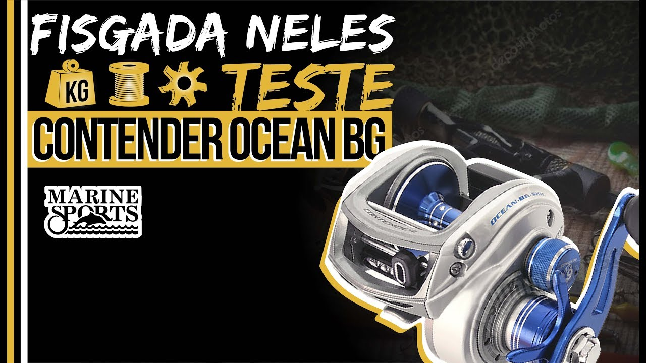 TESTE DA CARRETILHA CONTENDER OCEAN BIG GAME (DRAG, CAP. DE LINHA E PESO) MARINE SPORTS
