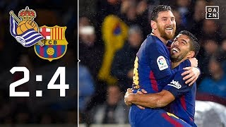 Messi-Traumtor und Suarez-Doppelpack: Real Sociedad - FC Barcelona 2:4   Highlights   LaLiga   DAZN