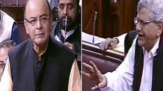 Arun Jaitley Vs Sitaram Yechury In Rajya Sabha - War On Black Money