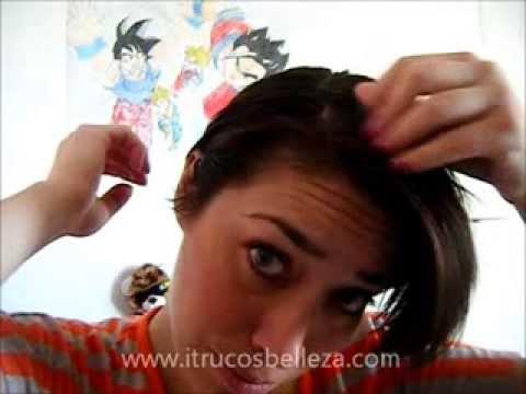 cómo me peino mi cabello corto - youtube