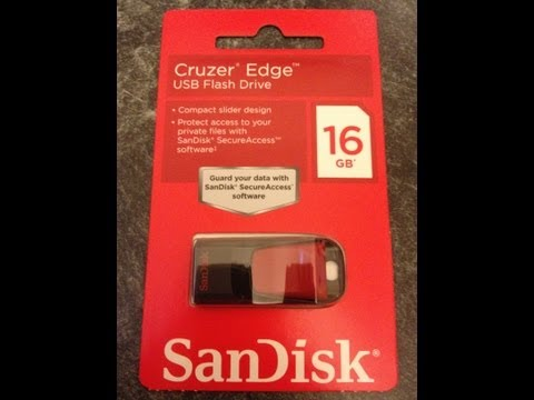 SanDisk Cruzer Edge 16GB - Unboxing & First Look