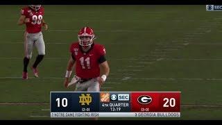 Jake Fromm vs. Notre Dame 2019