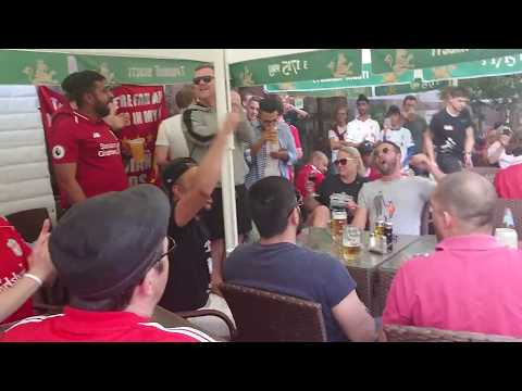 Liverpool Fans sing Poor Scouser Tommy in Kyiv plus Ian Rush songs!