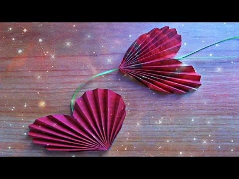 Как Сделать Сердце Своими Руками. Цветы, Подарок, Гирлянды Из Бумаги DIY Paper Heart