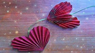 Как Сделать Сердце Своими Руками. Цветы, Подарок, Гирлянды Из Бумаги DIY Paper Heart(Очень простые и красивые бумажные сердечки можно сделать за 3 минуты своими руками. Одно оригами сердце..., 2016-01-14T16:31:36.000Z)