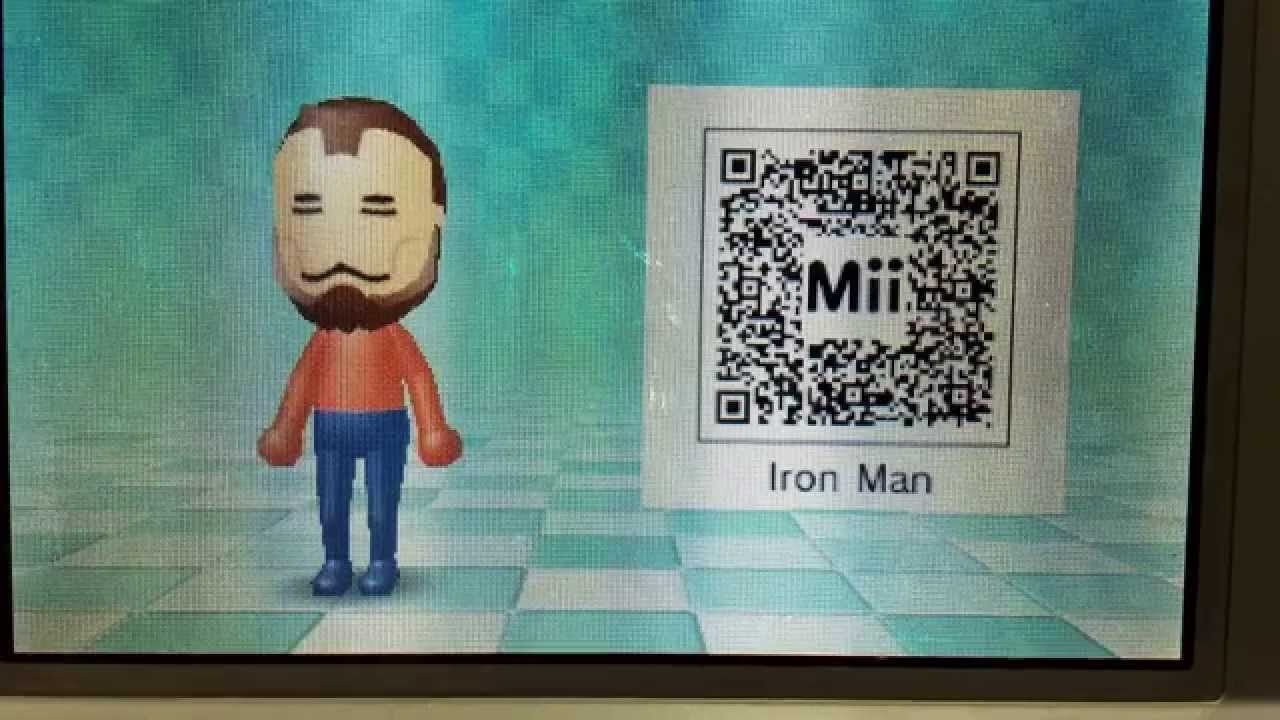 Iron Man 3ds Mii Code Youtube