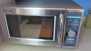 Sharp R-21LCFS commercial microwave oven review