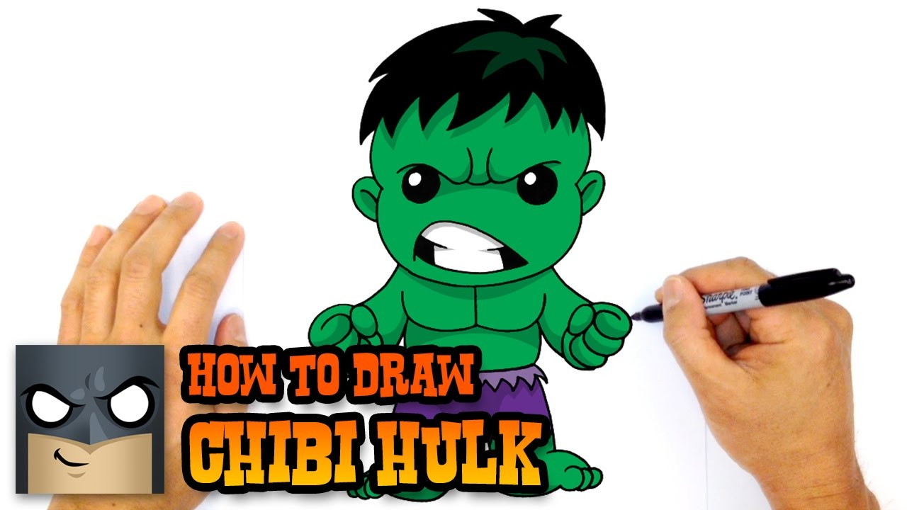 how to draw hulk the avengers