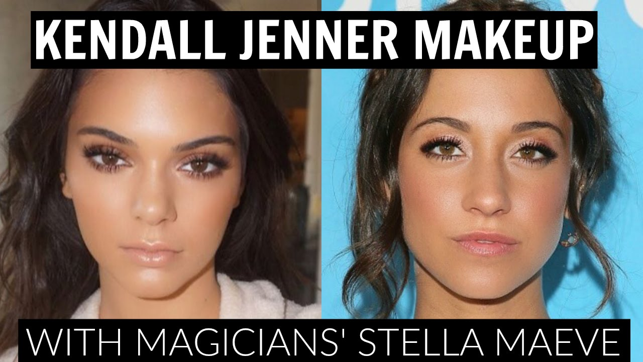 Kendall Jenner Makeup Tutorial with the Magicians' Stella Maeve - YouTube