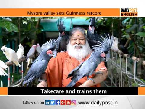 Mysore aviary sets the Guinness world record for most species of bird in an aviary