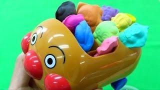 アンパンマン おもちゃアニメ アンパン号に乗せて カラフルキャラクターねんど ぐみ型 Anpanman Colorful Clay Toys thumbnail