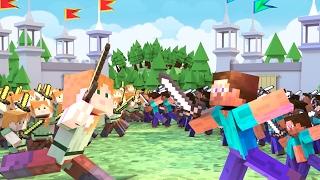 Minecraft | 100 BOYS VS 100 GIRLS! (Massive Mob Battles)