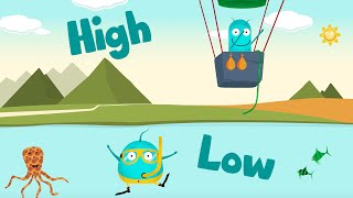 *FULL SONG  HIGH & LOW* | This & That | Learning for kids opposites words