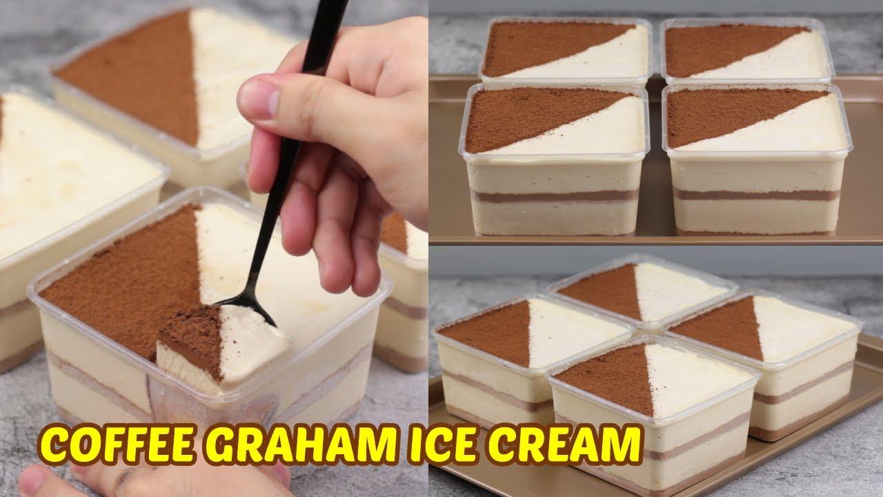 Coffee Graham Ice Cream Dessert Box! [4 Ingredients]