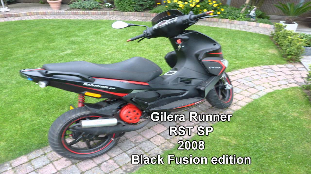 my gilera runner rst sp 2008 black fusion tuned hd youtube. Black Bedroom Furniture Sets. Home Design Ideas