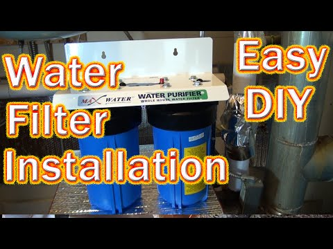 DIY How to Install a Big Blue Whole House Water Fillter- Copper to PEX Water Purifier Installation