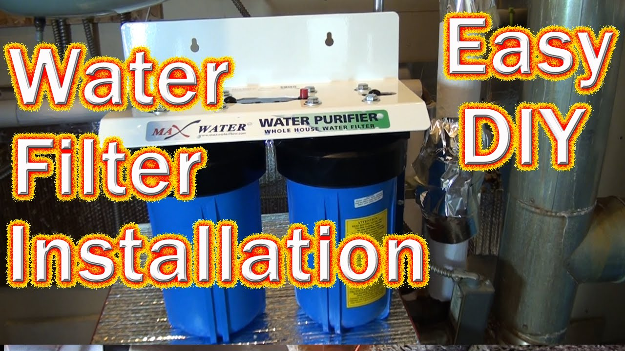 Household Water Filter System Diy How To Install A Big Blue Whole House Water Fillter Copper To