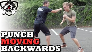 How to Punch While Moving Backwards - Boxing Footwork Techniques