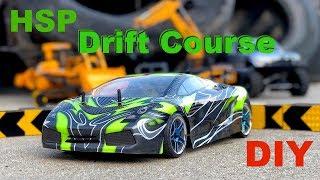 DIY drift course and first run test