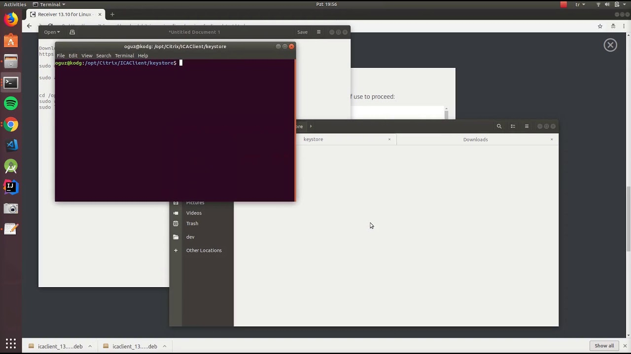Ubuntu için Citrix Receiver kurulumu