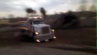 Peterbilt 379 dump truck doughnuts donuts