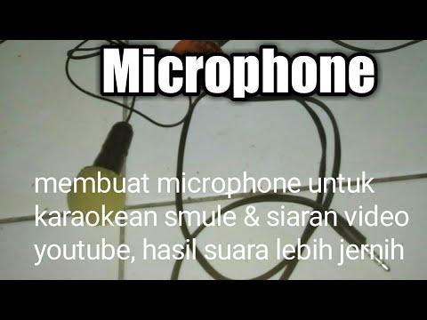 modifikasi headset menjadi Microphone buat karaokean smule & siaran video youtube,hasil suara jernih
