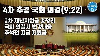 4차 추경 국회 의결(9.22)   2차 재난지원금 총…