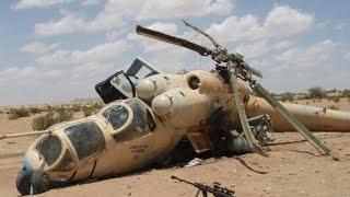 Момент крушения вертолёта Ми 25 в Сирии Минобороны сообщило о гибели российского экипажа вертолета