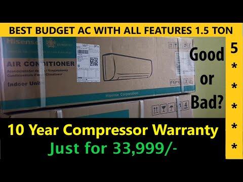 Best Budget AC || Hisense 1.5 Ton 5 Star Split Inverter AC with Wi-fi Connect , Copper Condenser