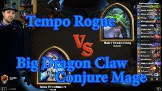Big Dragon Claw Conjure Mage vs Tempo Rogue | Hearthstone