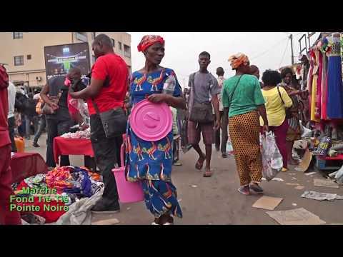 L'AMBIANCE DU MARCHÉ FOND TIÉ-TIÉ DE POINTE NOIRE CONGO BRAZZAVILLE
