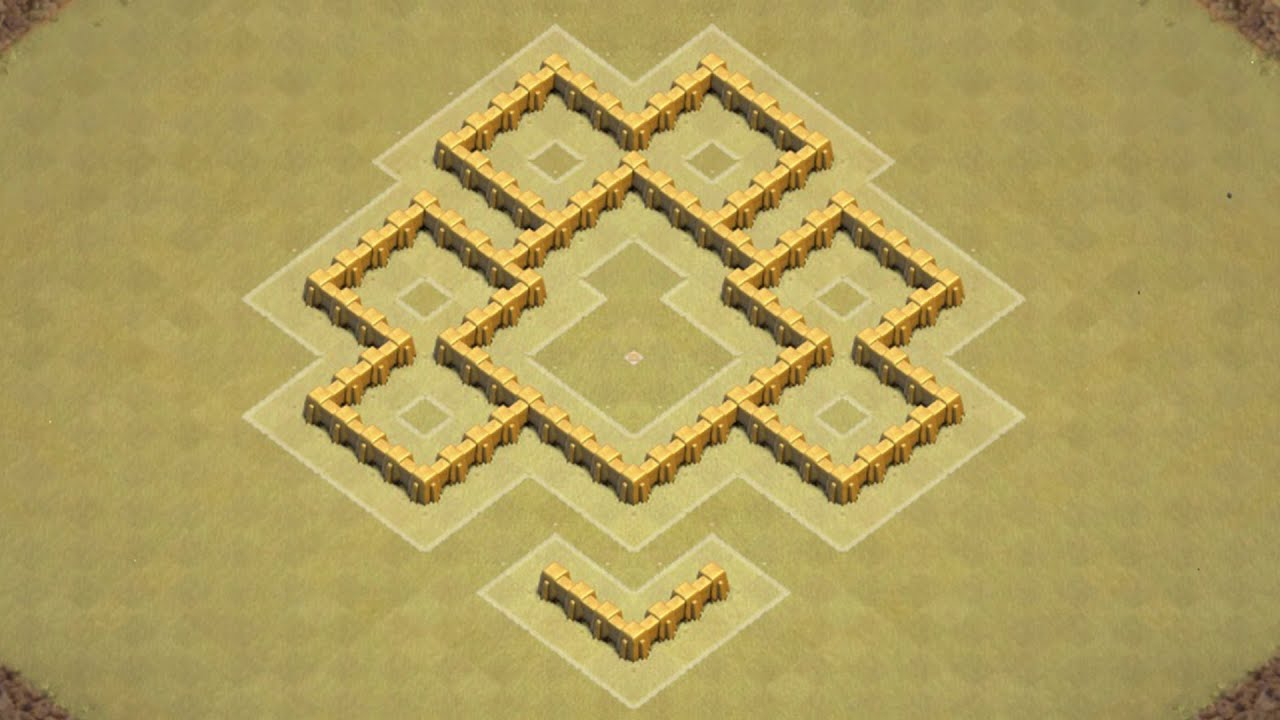 Clash of clans town hall 5 defense coc th5 best war base layout