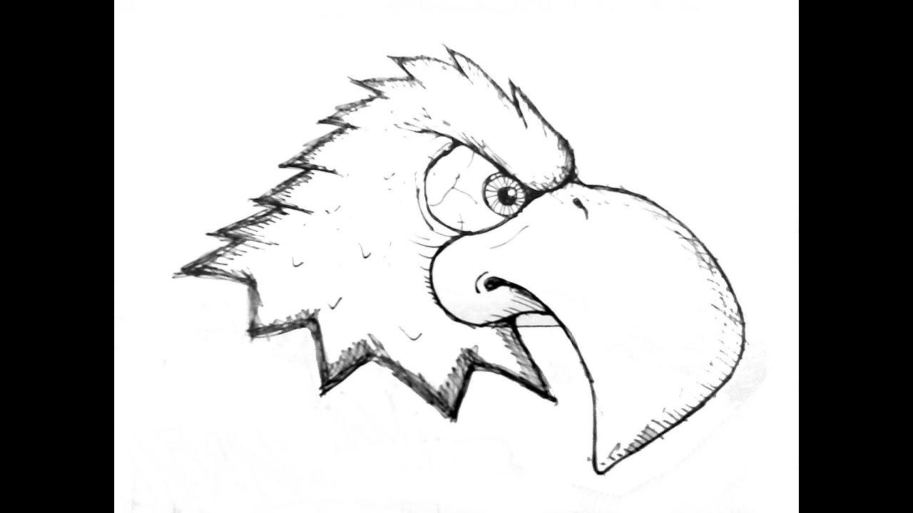 Aguila para dibujar facil imagui for Dormitorio para dibujar facil