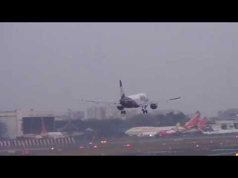 GO AIR A320 LANDING AT MUMBAI AIRPOT (CSIA) -Aviation Videos
