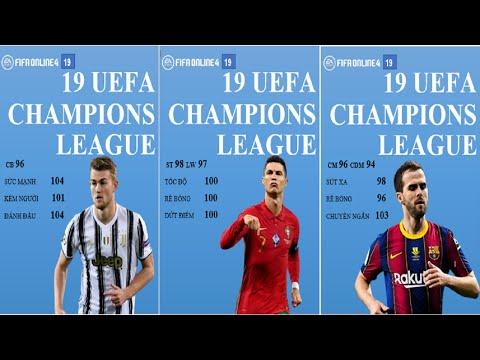 FiFa Online 4 | Đội hình 19 UEFA Champions League Full +5 | 19UCL