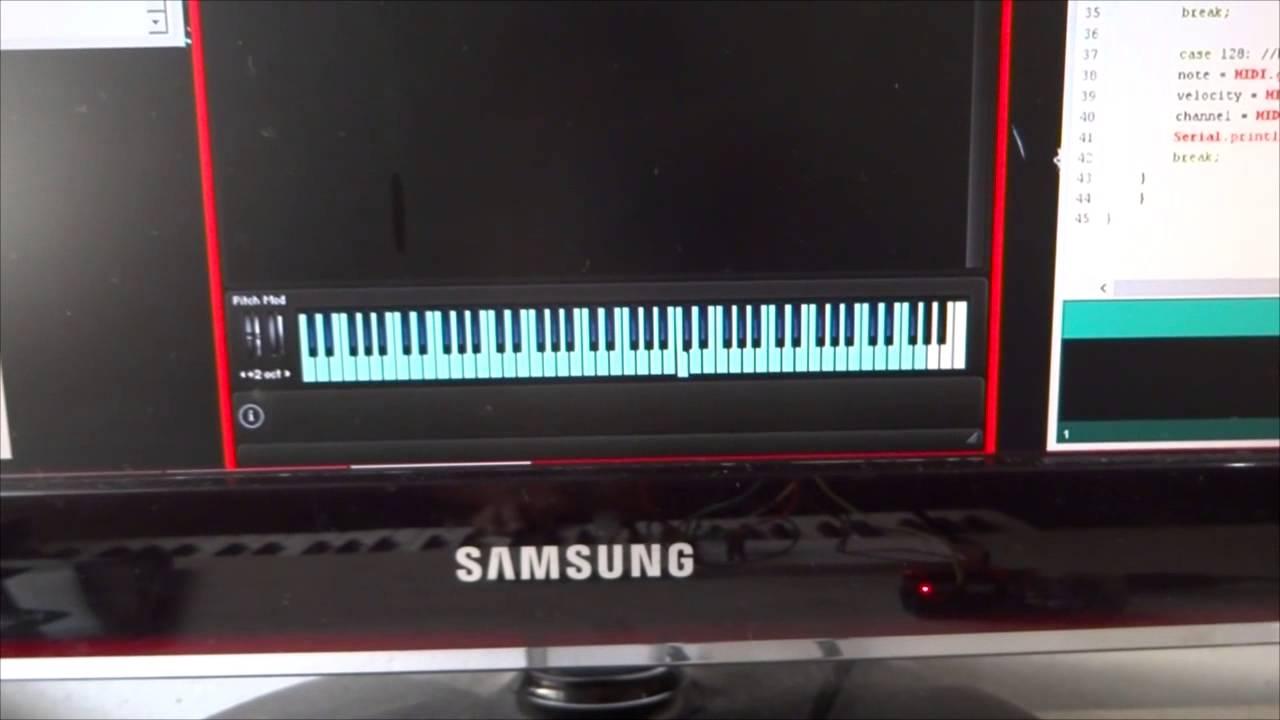 Interface midi para usb com arduino youtube