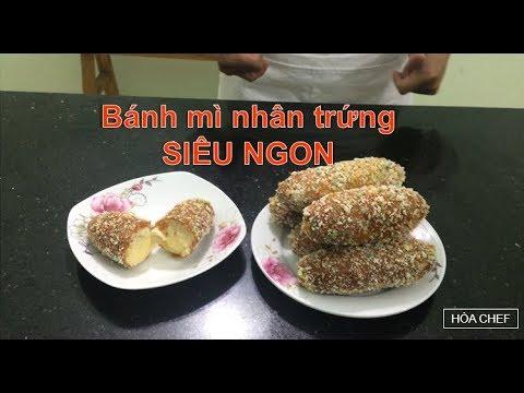 Cách Làm Bánh Mì Nhân Trứng (Custard Bread) SIÊU NGON SIÊU DỄ Cho Gia Đình – HÒA CHEF