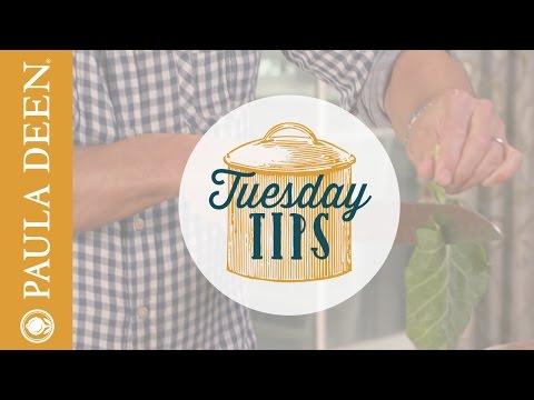 Bobby Deen s how to stem collard greens