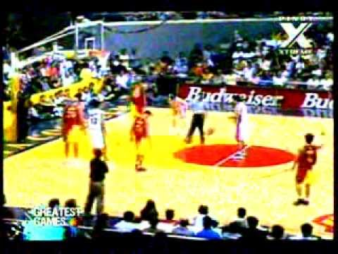 Barangay Ginebra vs. Batang Red Bull, PBA 2000 (25th season) Opening Game 1st Quarter