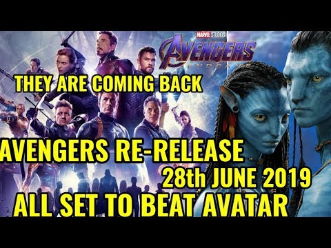 AVENGERS END GAME TO RE-RELEASE WITH NEW FOOTAGE & TRIBUTE ALL SET TO BEAT AVATAR