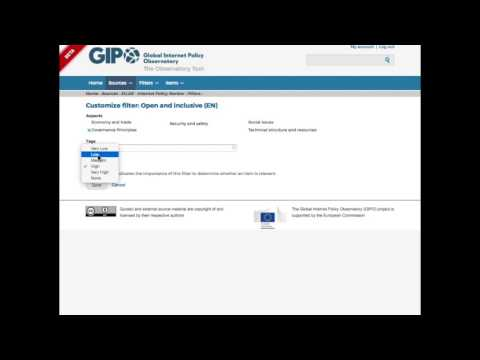 GIPO Demo - Content filtering and automatic scoring